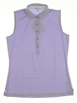 New Womens Fairway & Greene Sleeveless Polo X-Large XL Violet E32230 MSRP $79