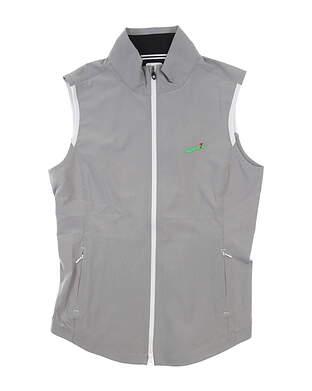 New W/ Logo Womens Footjoy Woven Full Zip Vest Medium M Gray 27573 MSRP $157