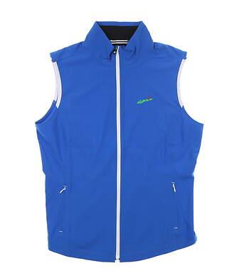 New W/ Logo Womens Footjoy Woven Full Zip Vest Large L Blue 27572 MSRP $157