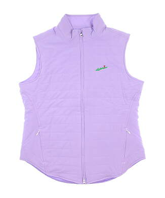 New W/ Logo Womens Footjoy Woven Insulated Vest Large L Purple 27598 MSRP $156