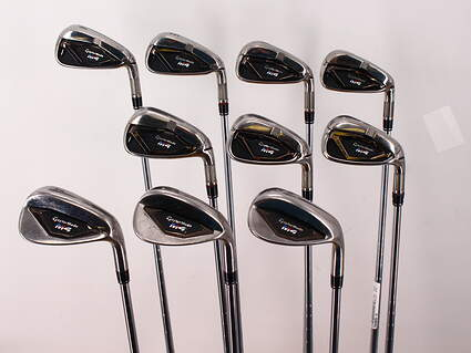 TaylorMade M4 Iron Set 4-PW GW SW LW FST KBS MAX 85 Steel Stiff Right Handed 38.5in
