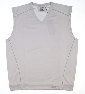 New Mens Ogio Header Pullover Golf Vest Large L Chrome MSRP $80