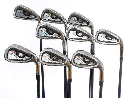 Wilson Staff C200 Iron Set 3-PW GW Mitsubishi Kuro Kage Black Graphite Stiff Right Handed 38.25in