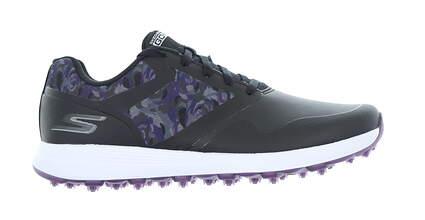 New Womens Golf Shoe Skechers Go Golf Max Draw Medium 8 Black/Purple MSRP $90