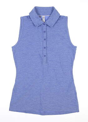New Womens Under Armour Sleeveless Golf Polo X-Small XS Periwinkle MSRP $70