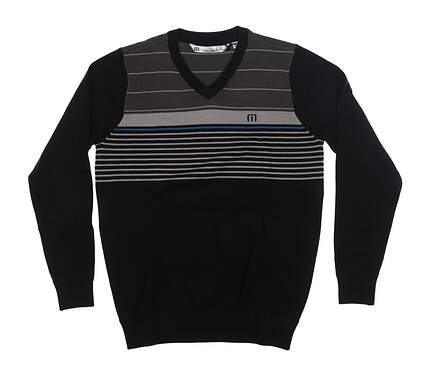 New Mens Travis Mathew Narlinger Sweater Small S Black 1MM160 MSRP $110