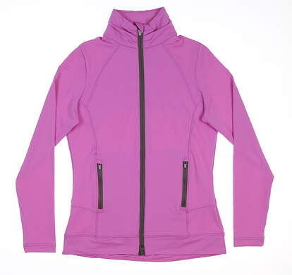 New Womens Peter Millar Full Zip Stretch Terry Jacket X-Small XS Purple MSRP $11