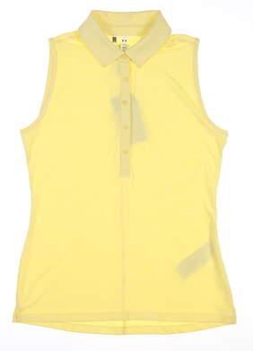 New Womens Under Armour Sleeveless Golf Polo Medium M Yellow UW0455 MSRP $70