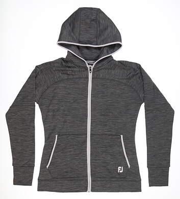 New Womens Footjoy Performance Fleece Hoodie Small S Charcoal MSRP $124