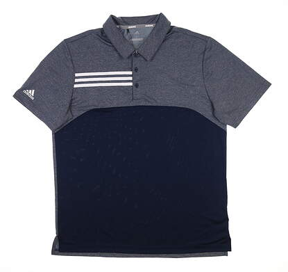 New Mens Adidas Golf Polo Large L Blue CY9298 MSRP $65
