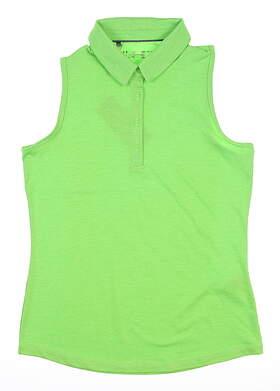 New Womens Under Armour Zinger Sleeveless Golf Polo Medium M Green MSRP $60