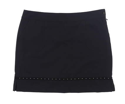 New Womens EP NY Studded Golf Skort 14 Black MSRP $89