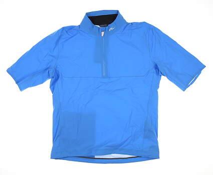 New Mens KJUS Dexter 2.5L Troyer Rain Shirt Medium M (EU 50) Blue MSRP $299