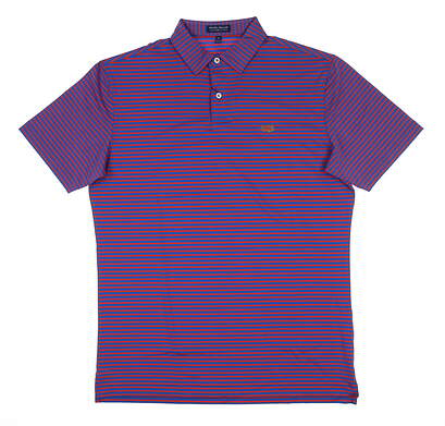 New W/ Logo Mens Peter Millar Crown Crafter Golf Polo Medium M Red/Blue MSRP $85