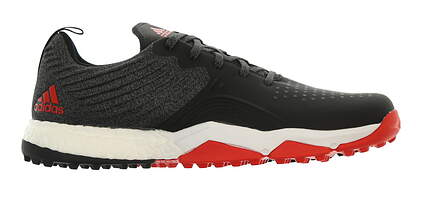 New Mens Golf Shoe Adidas Adipower 4orged S Medium 9.5 Black/White/Red MSRP $130