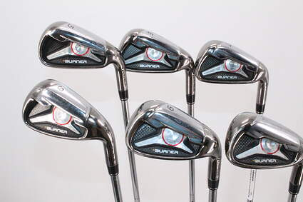 @TaylorMade 2009 Burner Iron Set.  PW is missing from the set. Steel Stiff Right Handed 38.5in