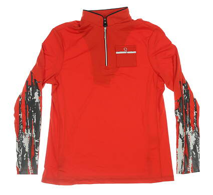 New Womens Jamie Sadock 1/4 Zip Pullover X-Small XS Red 72102 MSRP $100