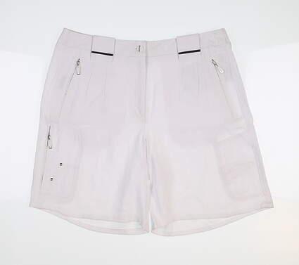 New Womens Jamie Sadock Bamboo Shorts 6 White 71326 MSRP $112