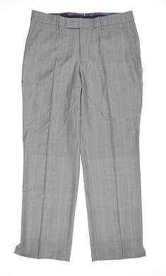 New Mens G-Mac Check Golf Trouser 34 Regular Gray MSRP $170