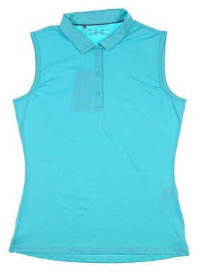 New Womens Under Armour Sleeveless Golf Polo Medium M Teal UW0483 MSRP $60