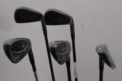 Mint Cobra KING Black Forged Tec Iron Set 6-PW True Temper AMT White S300 Graphite Stiff Right Handed 38.5in