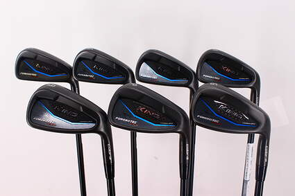 Cobra KING BLK Forged Tec One Length Iron Set 5-PW GW True Temper AMT White S300 Steel Stiff Right Handed 37.25in
