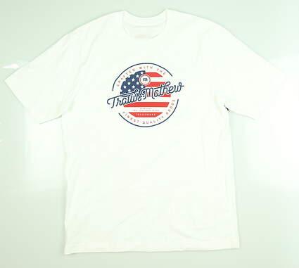 New Mens Travis Mathew T-Shirt Medium M White 1MN333 MSRP $30