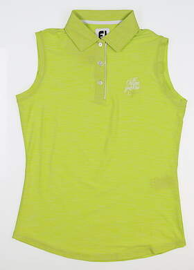 New W/ Logo Womens Footjoy Sleeveless Polo X-Small XS Lime 27399 MSRP $52