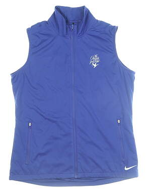 New W/ Logo Womens Nike Shield Vest Medium M Navy Blue 726156 MSRP $55