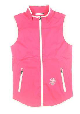 New W/ Logo Womens Footjoy Lightweight Vest X-Small Berry/White 24971 MSRP $135