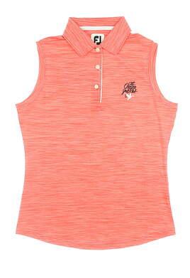 New W/ Logo Womens Footjoy Sleeveless Polo X-Small XS Red 27078 MSRP $54