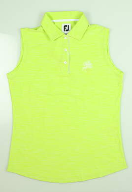 New W/ Logo Womens Footjoy Sleeveless Polo Small S Lime 27399 MSRP $52