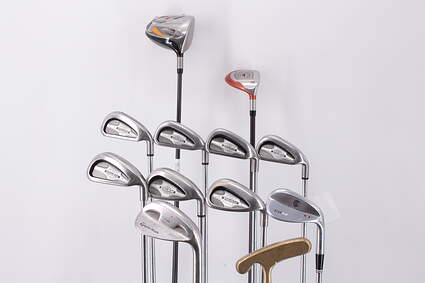 Mens Complete Golf Club Set Right Handed Stiff Flex TaylorMade Driver Callaway Irons Wedge Putter Retail Price $ 1500