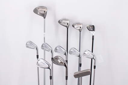 Mens Complete Golf Club Set Right Handed Stiff Flex Callaway Driver & Woods Titleist Irons Wedge and Putter Retail Price $ 1899