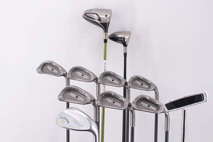 Mens Complete Golf Club Set Right Handed Stiff Flex Titleist Driver Spider Putter Ping Irons Wedge Putter Retail Price $2199