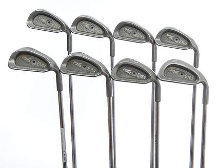 Ping Eye 2 + Iron Set 3-PW Ping Microtaper Steel Stiff Right Handed Black Dot 38.25in