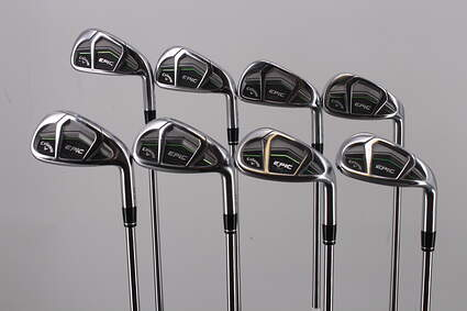 Callaway Epic Iron Set 5-PW GW SW Project X LZ 95 6.0 Steel Stiff Right Handed 38.25in
