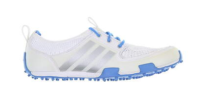New Womens Golf Shoe Adidas Climacool Ballerina II Medium 7 White/Blue MSRP $60