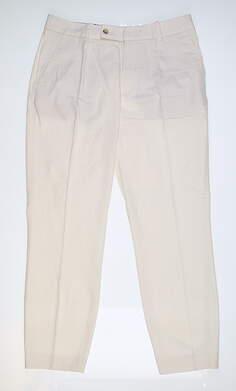 New Womens Peter Millar Oxford Trousers 0 Ivory LS19B02 MSRP $149