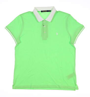 New Womens Ralph Lauren Golf Polo Large L Green MSRP $98