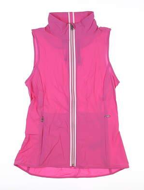 New Womens Ralph Lauren Full Zip Vest X-Small XS Pink MSRP $148