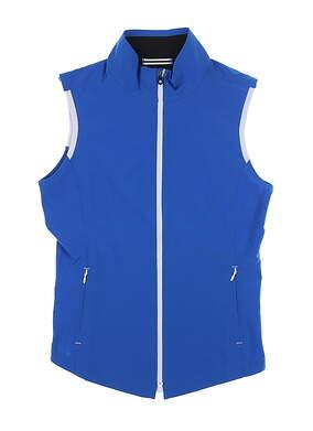 New Womens Footjoy Full Zip Vest X-Small XS Royal 27572 MSRP $145