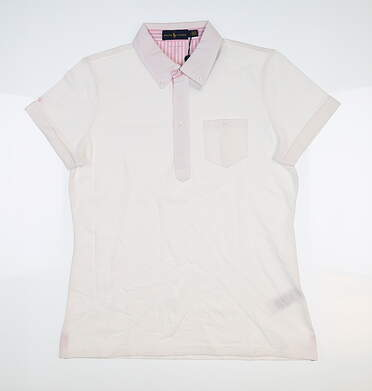 New Womens Ralph Lauren Golf Polo Medium M White MSRP $98