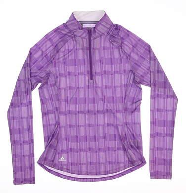 New Womens Adidas 1/4 Zip Golf Pullover X-Small XS Purple DP3628 MSRP $65