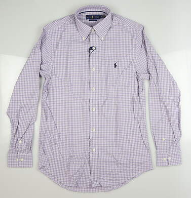 New Mens Ralph Lauren Button Down Small S Purple MSRP $99