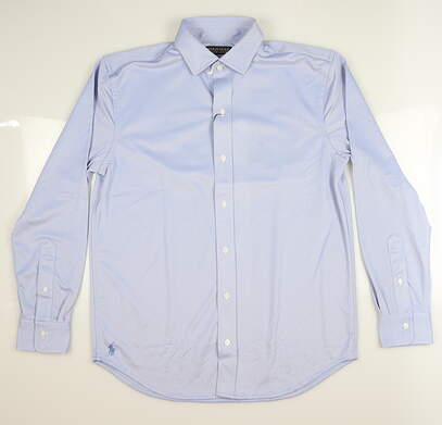 New Mens Ralph Lauren Button Down Medium M Harbor Blue MSRP $125