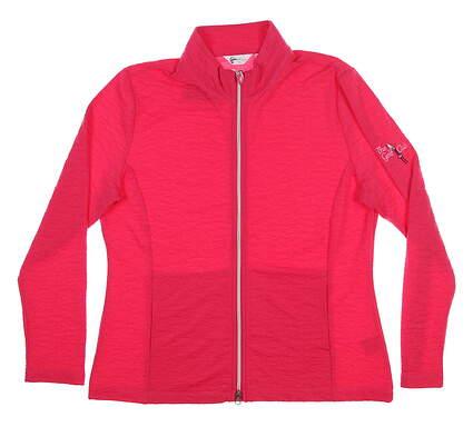 New W/ Logo Womens Greg Norman Jacket Large L Pink G2S7J363 MSRP $89