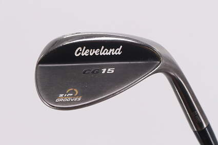 Cleveland CG15 Black Pearl Wedge Sand SW 56° 14 Deg Bounce Stock Steel Shaft Steel Wedge Flex Right Handed 35.75in