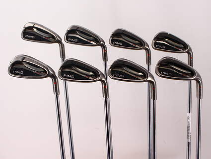 Ping G25 Iron Set 4-PW GW FST KBS Tour Steel X-Stiff Right Handed Red dot 37.75in