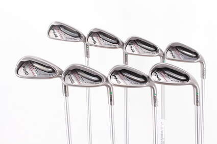 Ping 2014 Karsten Iron Set 5-PW GW SW Ping KS 401 Graphite Senior Right Handed Green Dot 38.25in